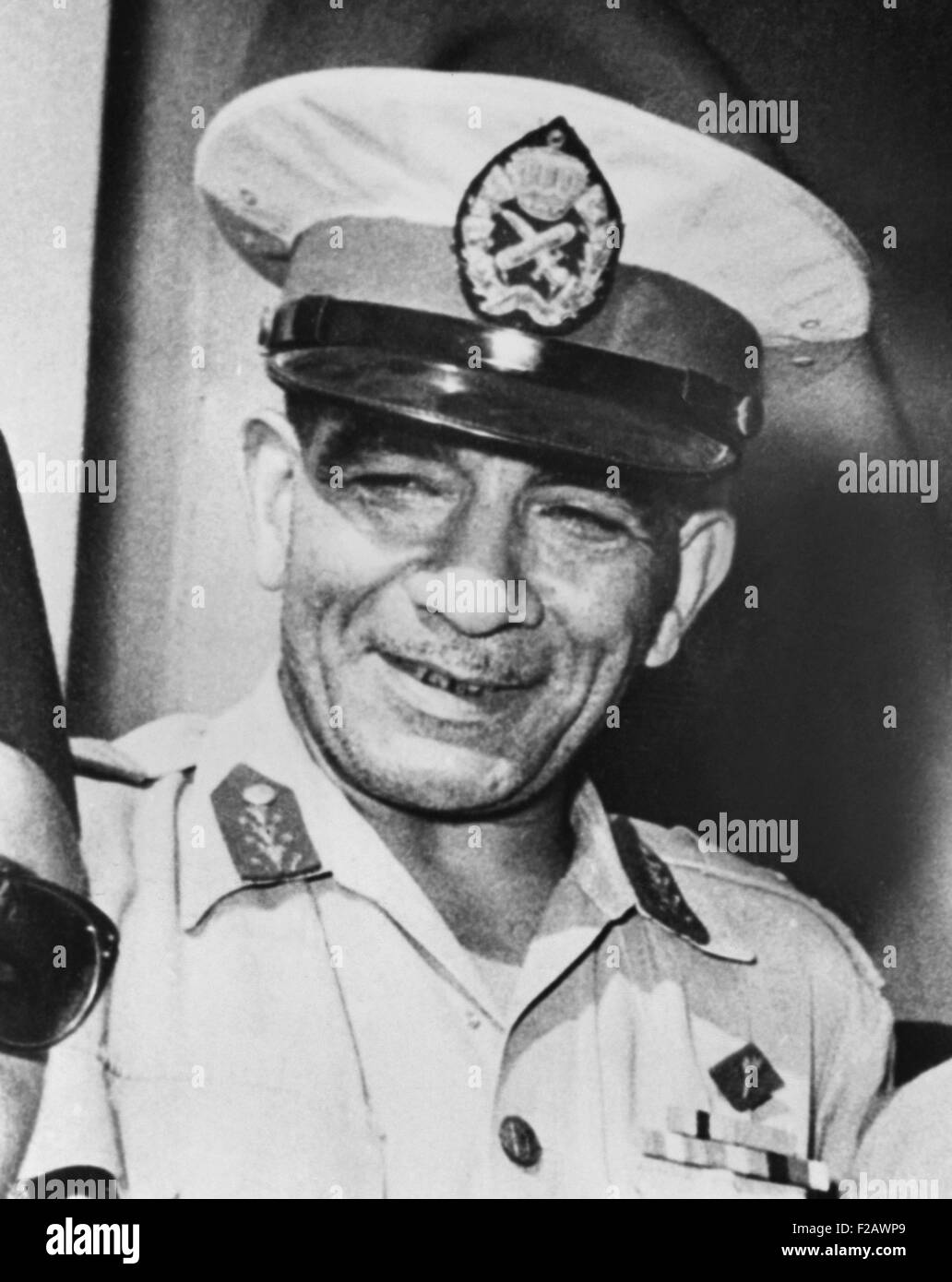 General Muhammad Naguib to assumed nominal leadership of the Egyptian Revolution of 1952. 'The Free Officers,' - Stock Image