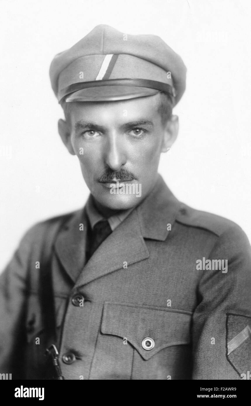 Czech Capt. Vladimir S. Hurban was in the Russian Empires forces during World War 1. When Czechoslovakia became Stock Photo