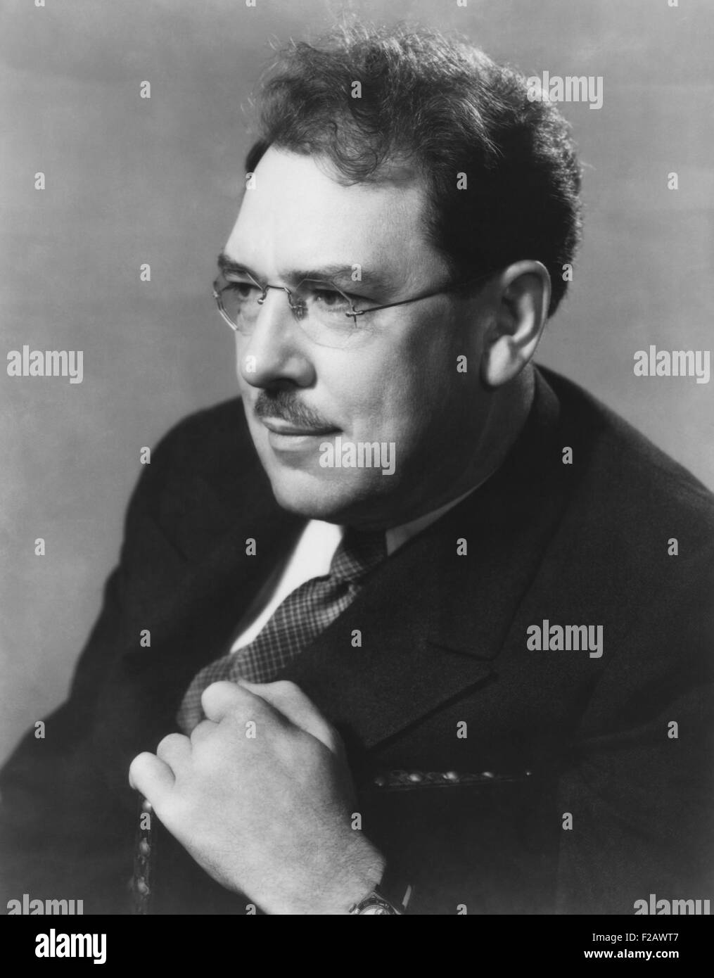 Maxwell Anderson, American playwright, author, poet, journalist and lyricist. Photo by Florence Vandamm, for Guthrie - Stock Image