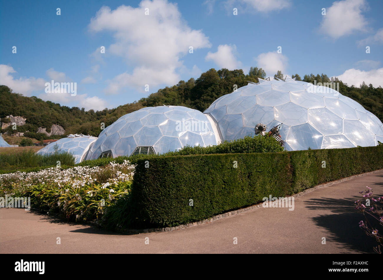 The Eden Project Cornwall England UK - Stock Image