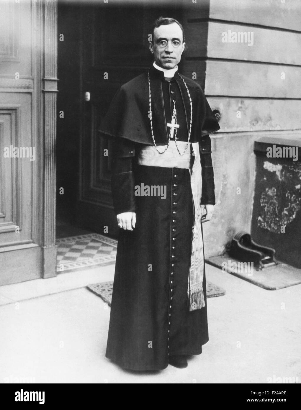 Bishop Eugenio Pacelli, the future Pope Pius XII, ca. 1925. From 1917-1929 he was the Papal Ambassador in Munich Stock Photo