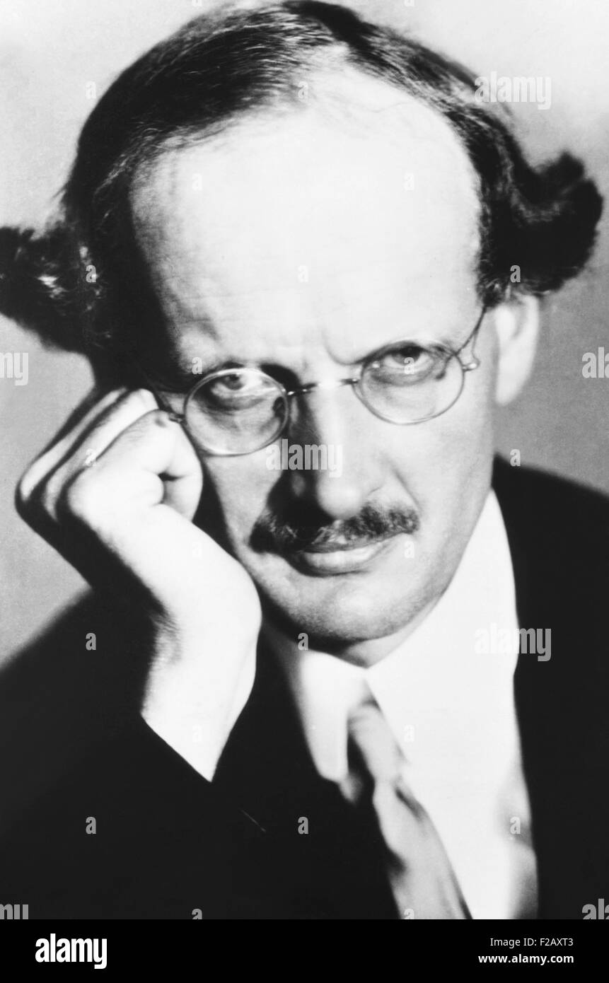 Auguste Piccard, famous Belgian scientist pierced the stratosphere twice in a balloon borne capsule. Ca. 1932. (CSU - Stock Image