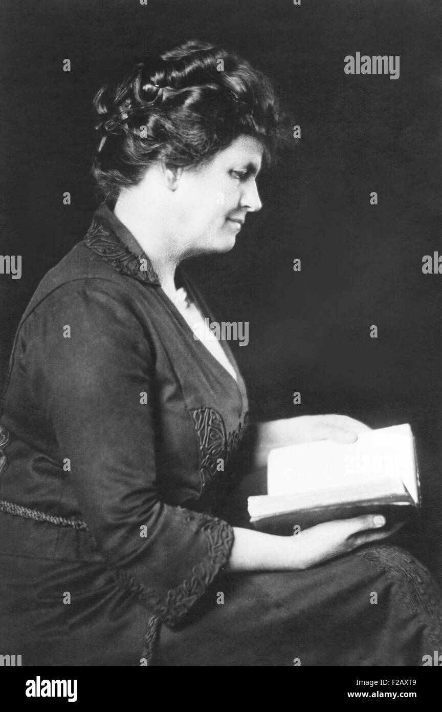 Grace Livingston Hill, early 20th-century American novelist. Ca. 1920. She wrote under her real name and the pseudonym - Stock Image