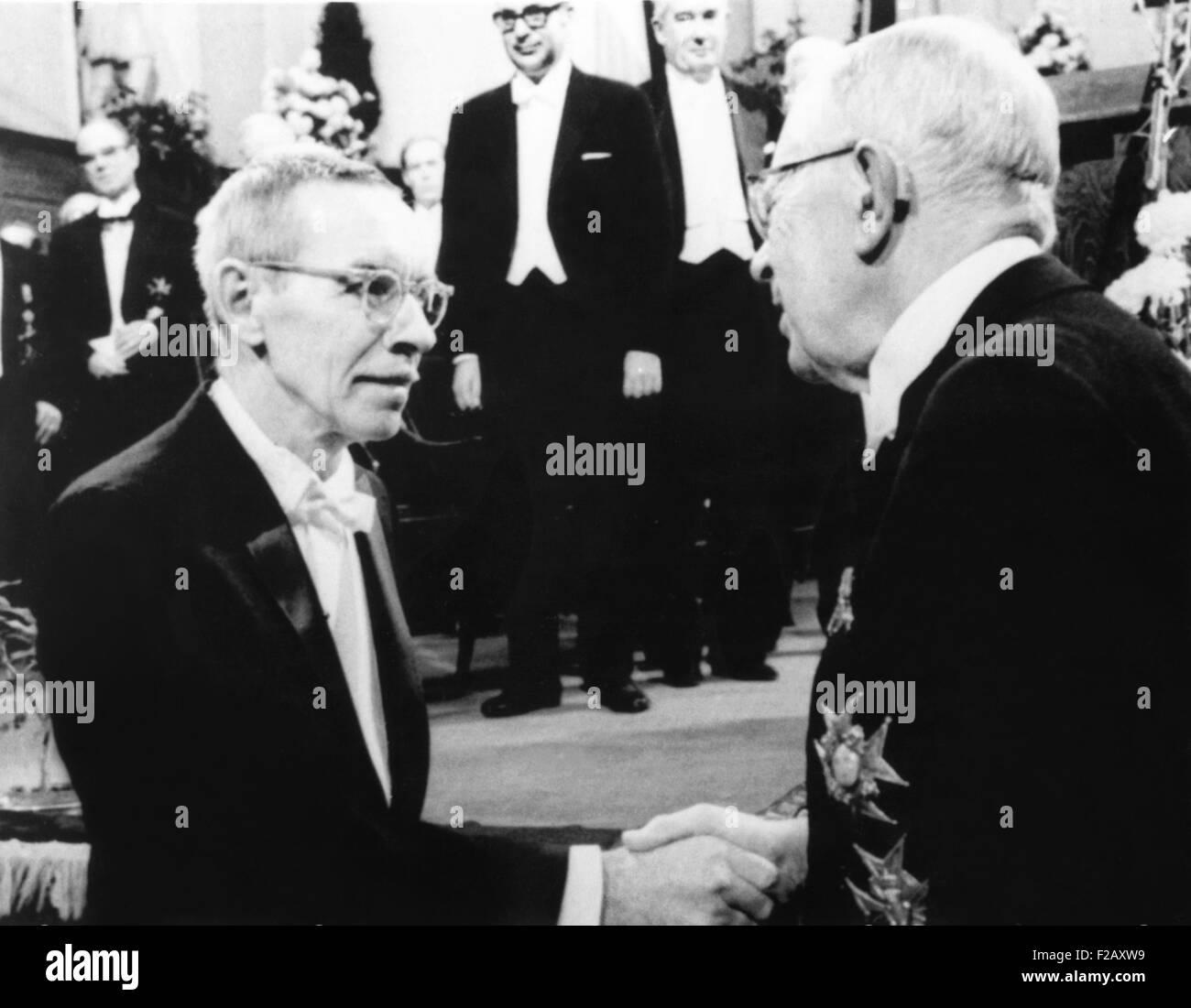 Dr. Alfred D. Hershey, 60, awarded 1969 Nobel Prize for Medicine. He shared the prize with Dr. Salvador Luria and - Stock Image