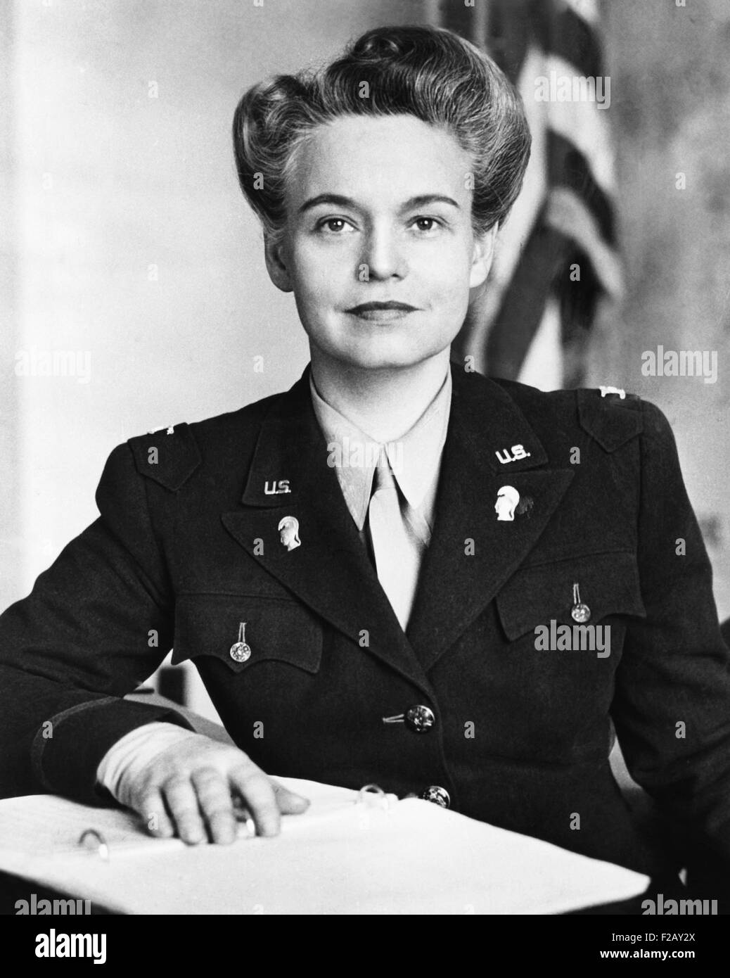 Colonel Oveta Culp Hobby, Commander of the U.S. Women's Army Corps during World War II. July 1943-July 1945. - Stock Image