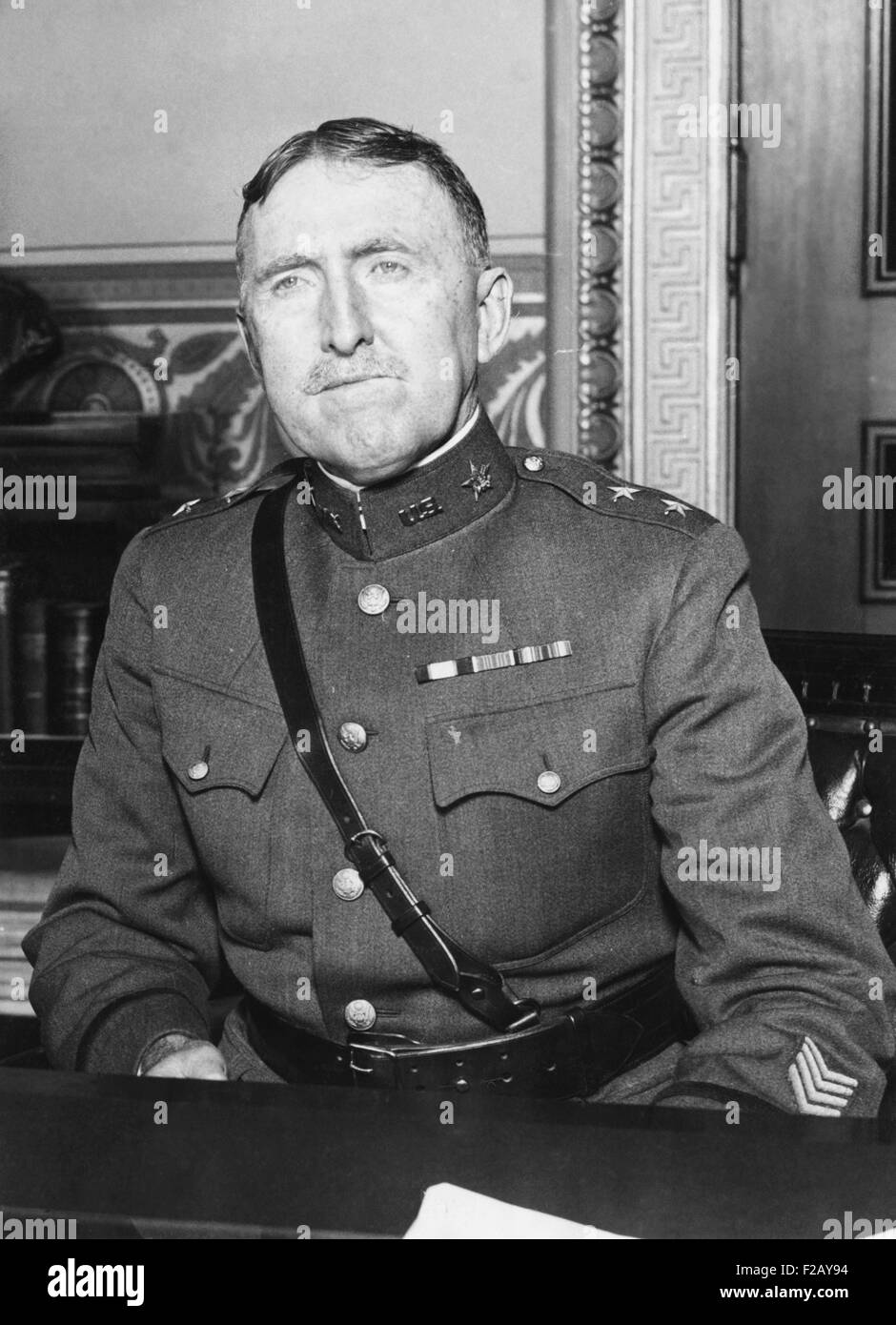 Gen. John L. Hines, Chief of Staff of the U.S. Army from 1924 to 1926. Hines commanded the 1st Brigade, 1st Division, - Stock Image