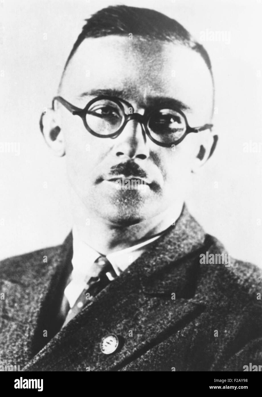 Heinrich Himmler, head of the Nazi's Black Shirt troopers or Schutzstaffel (SS) from 1929-1945. The SS began - Stock Image