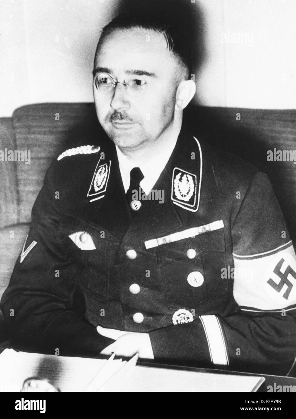 Heinrich Himmler, leader of the Nazi Germany's elite Schutzstaffel or SS. Ca. 1940. From 1939-1945, during World - Stock Image