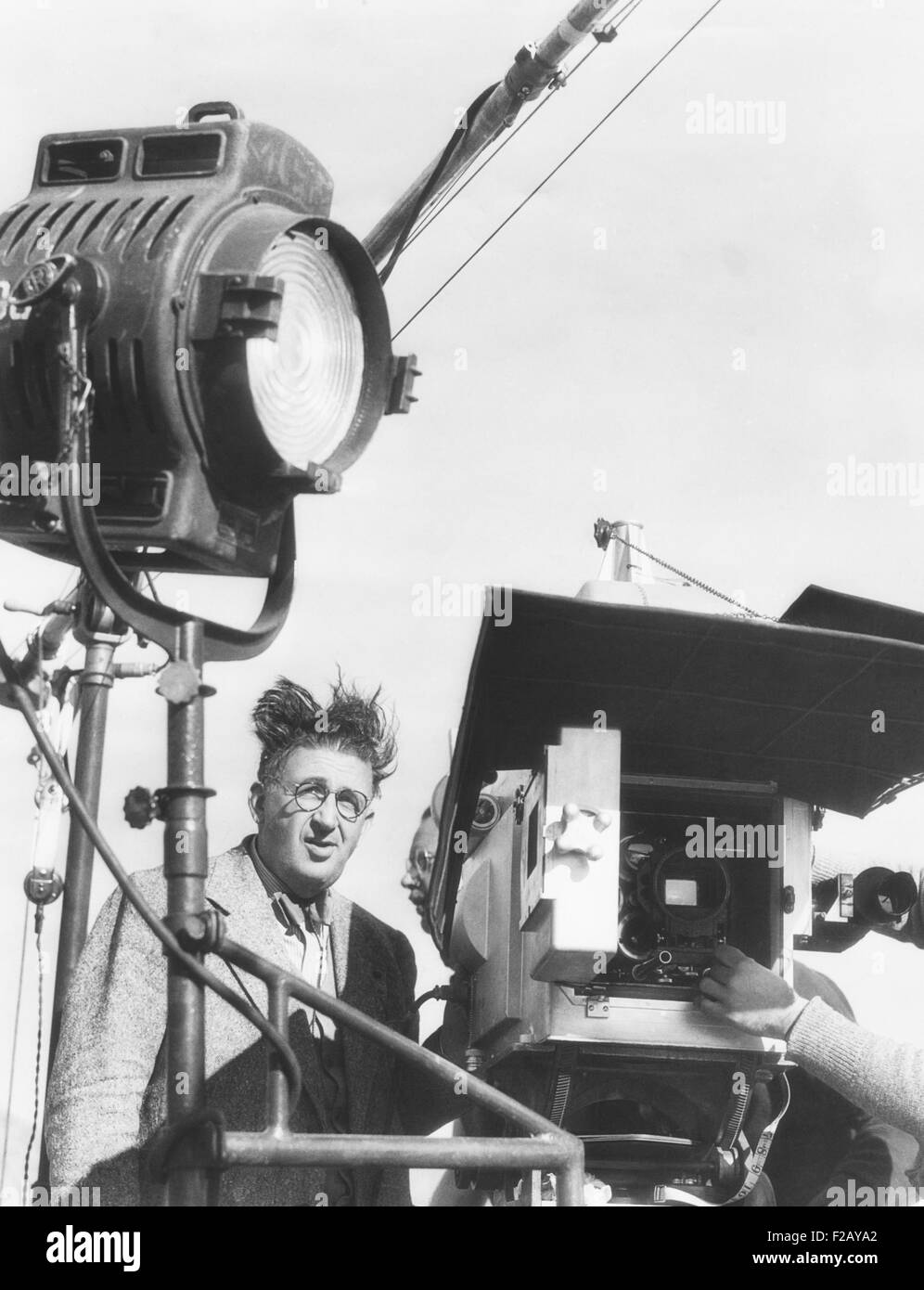 Cameraman Karl Freund working on the 'Parnell' set in July 1937. The MGM movie was directed John M. Stahl - Stock Image