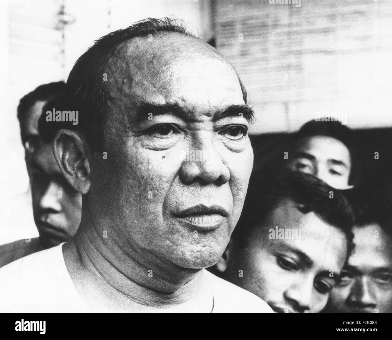 Indonesian ruler Sukarno was removed from power on Jan, 10, 1967. He was stripped of his 'President-for-Life' - Stock Image