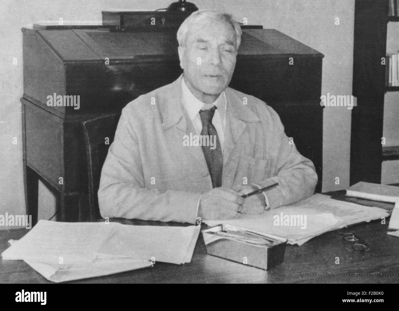 Boris Pasternak, Russian writer was awarded the 1958 Nobel Prize for Literature. When historical novel, 'Dr. - Stock Image