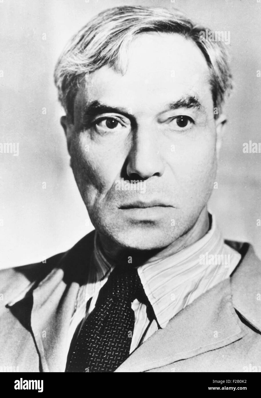 Boris Pasternak, Soviet Era Russian poet, novelist, and literary translator. Ca. 1950 (CSU_2015_9_1061) - Stock Image