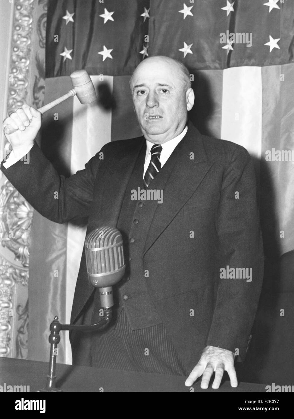 Sam Rayburn was elected Speaker of the House on Sept. 16, 1940. The Texas Democrat succeeded William B. Bankhead - Stock Image
