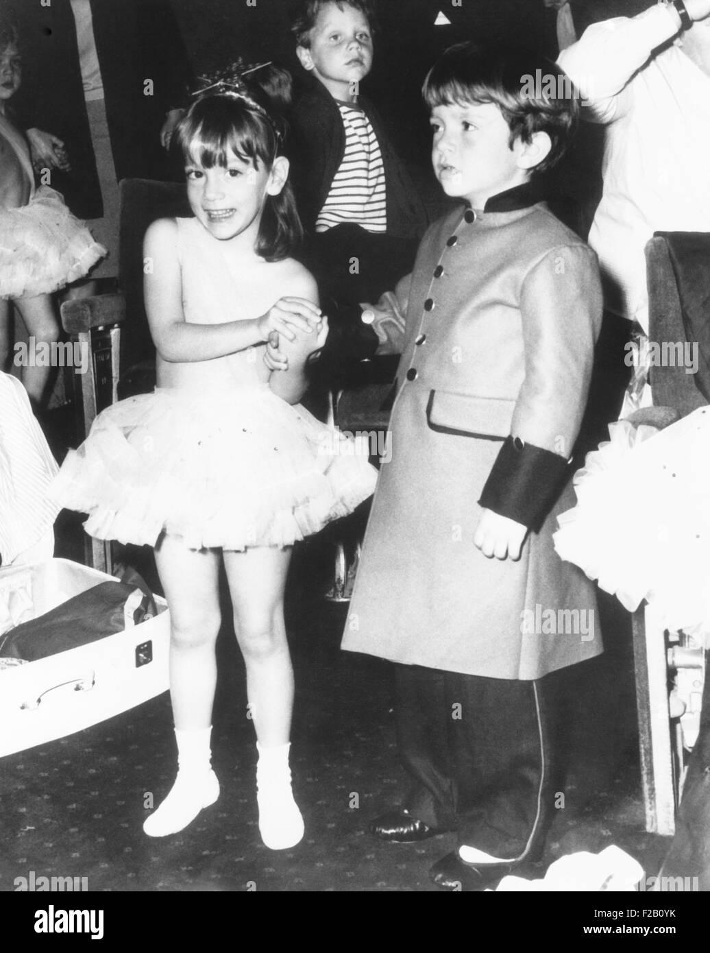 Anthony and Christina Radziwill, the children of Princess Lee Radziwill, at the Shaftesbury Theatre. June 26, 1965. - Stock Image