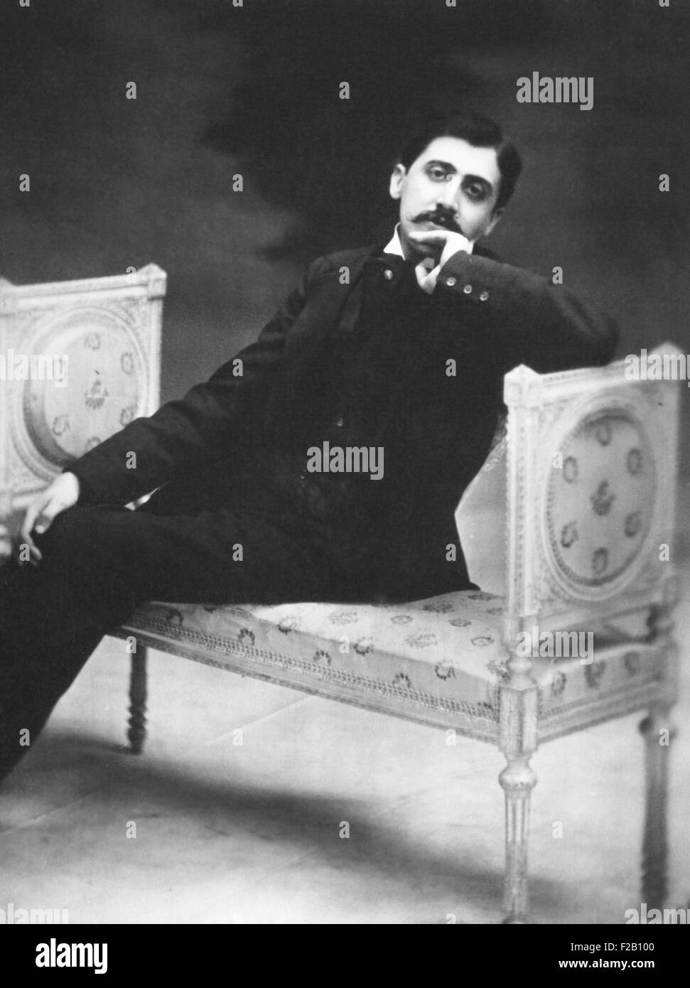 Marcel Proust, French writer in 1900 near age 30. His genius was acknowledged in his life time. His masterwork, - Stock Image