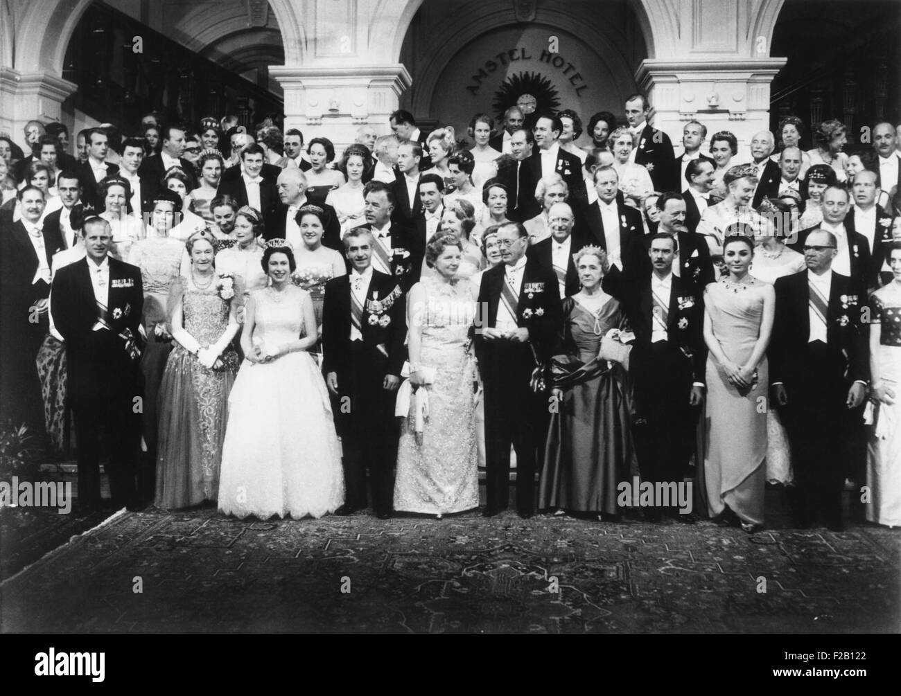 World wide royalty celebrate the silver wedding anniversary Queen Juliana and Prince Bernhard. At the Hague, Netherland, - Stock Image