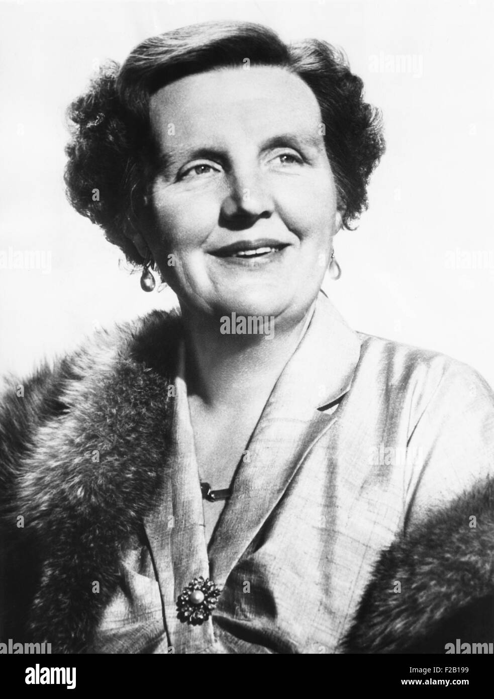 46th birthday portrait of Queen Juliana of the Netherlands. April 1955. (CSU_2015_8_644) - Stock Image