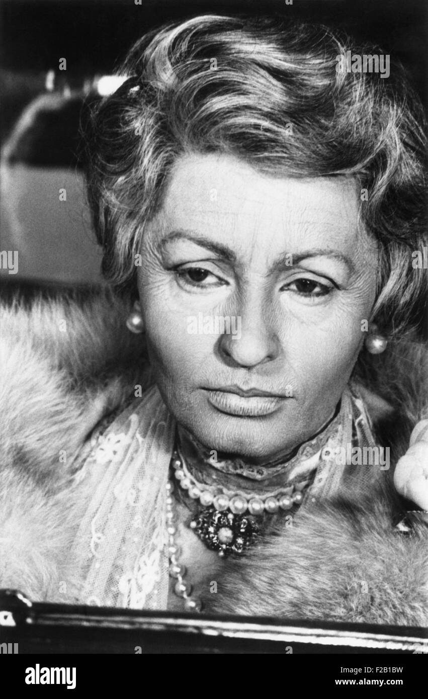 Sophia Loren made-up as an 80 year old women for her 1965 film, LADY L. (CSU_2015_8_611) - Stock Image