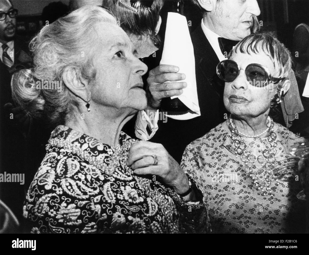 Anita Loos and Helen Hayes were co-authors of 'Twice Over Lightly: New York Then and Now'. The 1972 book - Stock Image