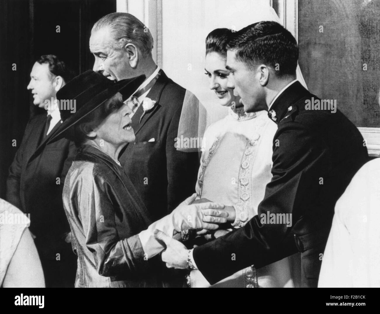 Alice Roosevelt Longworth With Capt Charles Robb And Lynda Johnson