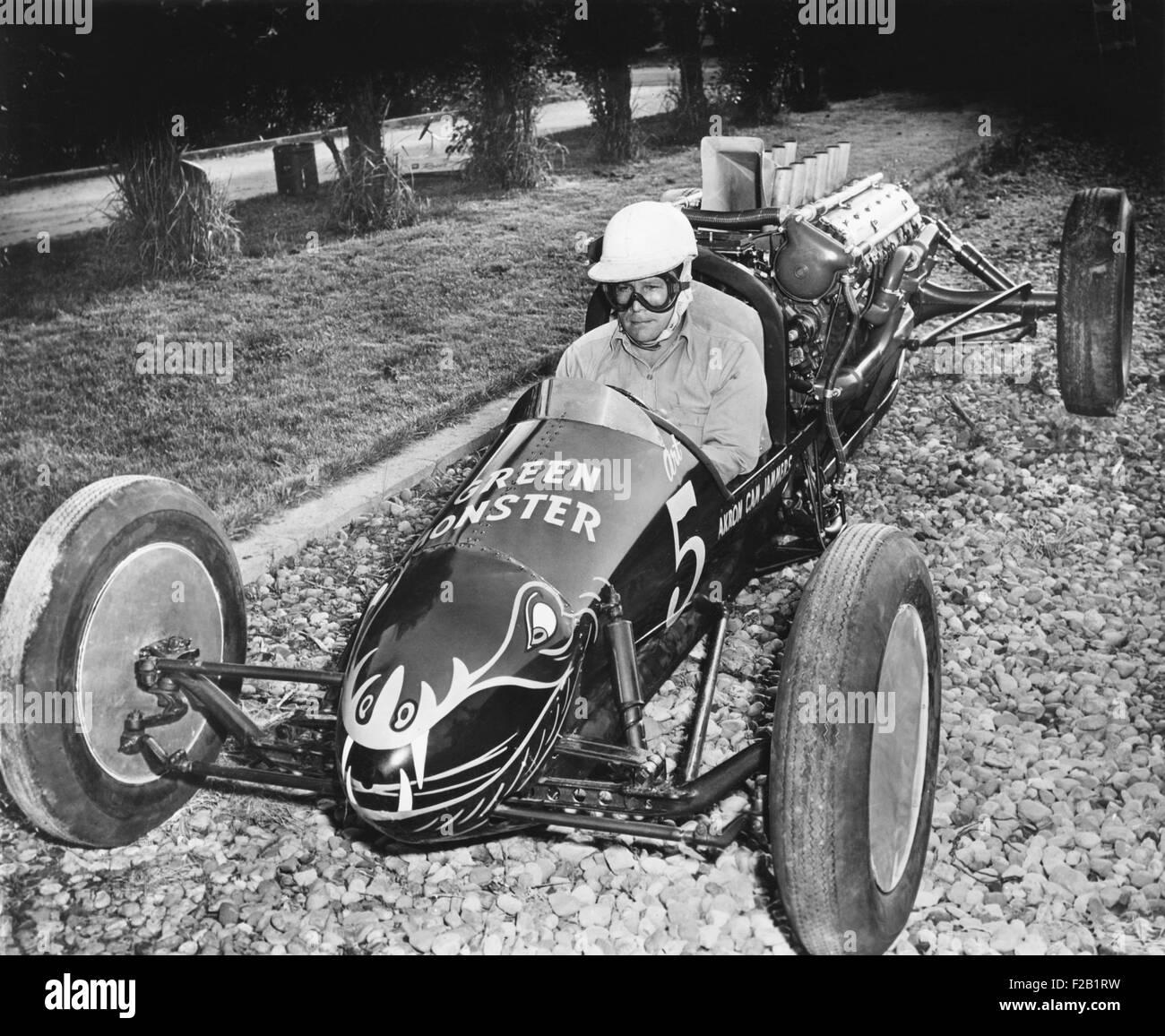 Walter Arfons' 'Green Monster #5' a homemade hot rod, with a 1000 horsepower Ranger aircraft engine. It was - Stock Image
