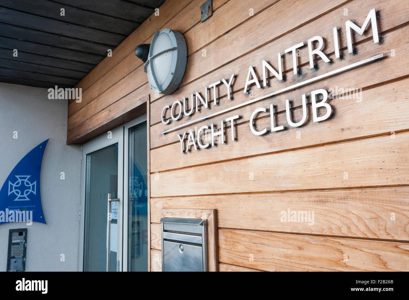 County Antrim Yacht Club, Whitehead - Stock Image