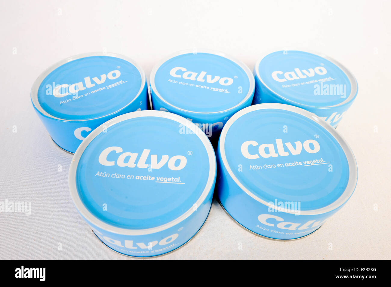 Array of tuna, Calvo - serie de atún, clavo - Stock Image