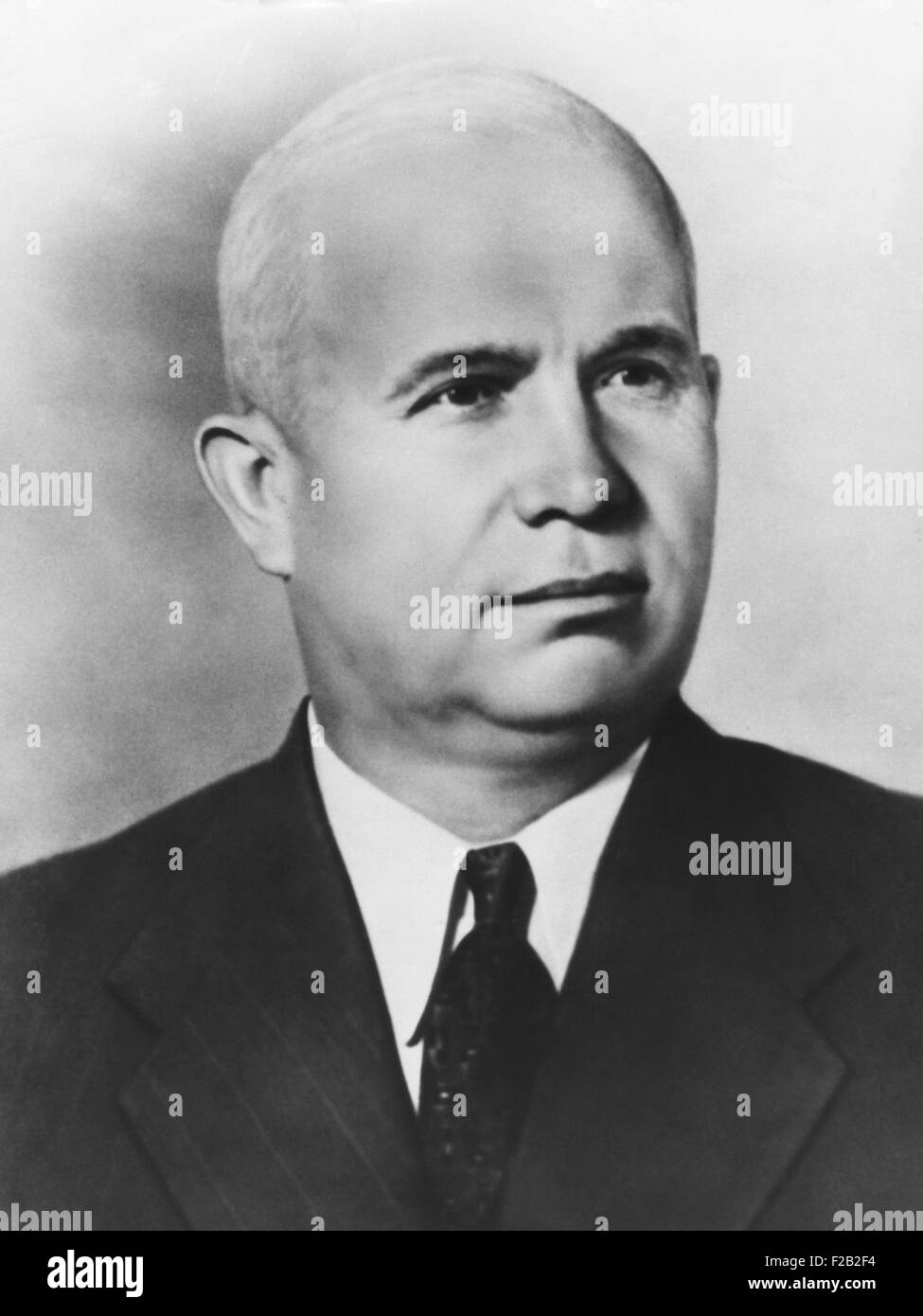 Nikita Khrushchev, as First Secretary of the Central Committee of the Communist Party, Soviet Union. Ca. 1953. (CSU - Stock Image