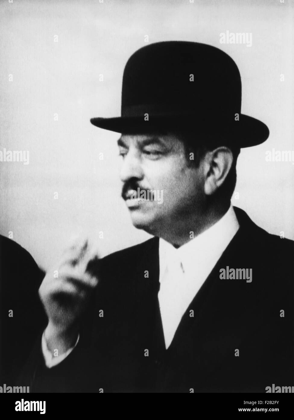 Pierre Laval, was Prime Minister of France twice, from Jan. 1931-Feb. 1932 and June 1935-Jan. 1936. (CSU_2015_8 - Stock Image