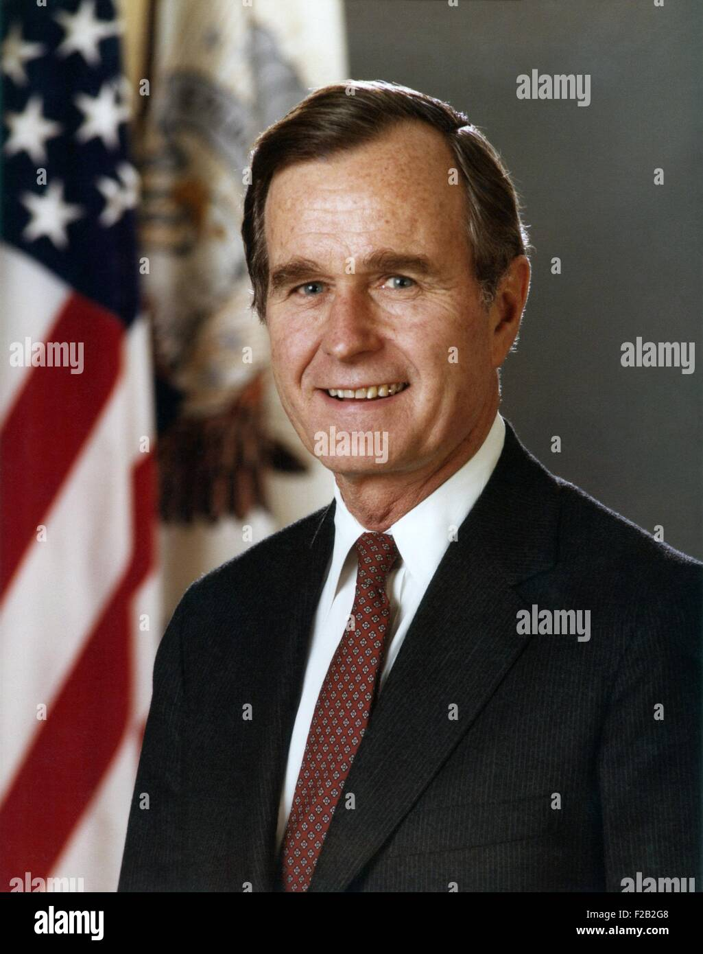 George H.W. Bush, Vice President During The Ronald Reagan Administration.  Official Portrait For The First Term From Jan 1981 Jan 1985. (CSU 2015 7  351)