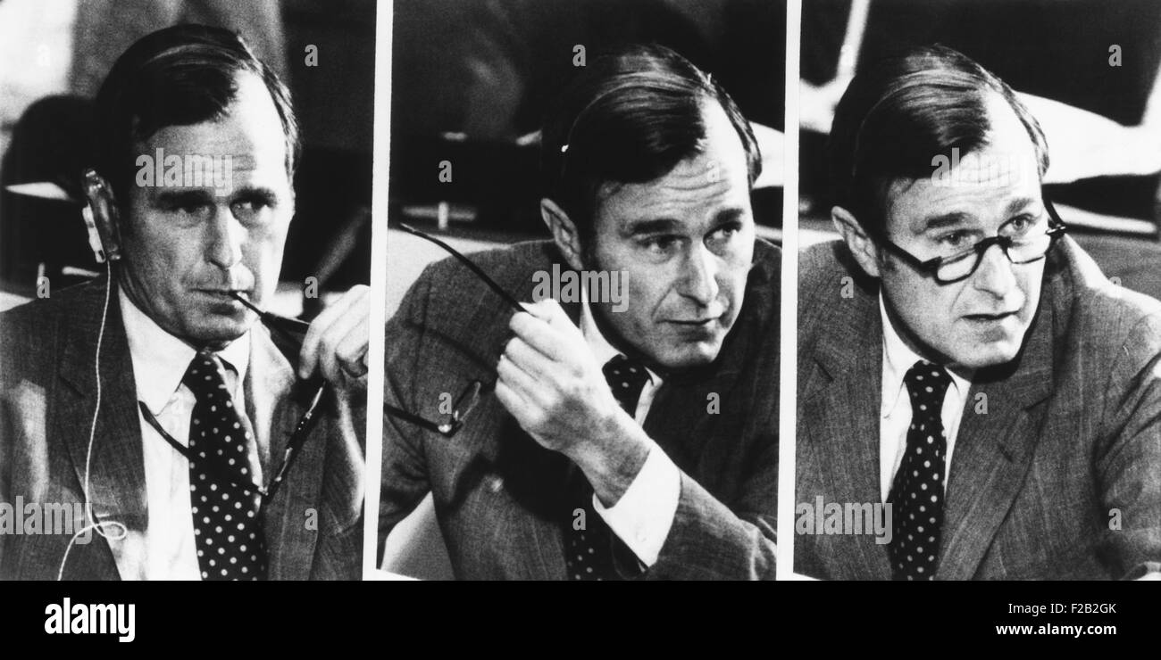 U.S. Ambassador to the UN, George Bush in the Steering Committee of the General Assembly. Sept. 24, 1971. (CSU_2015 - Stock Image