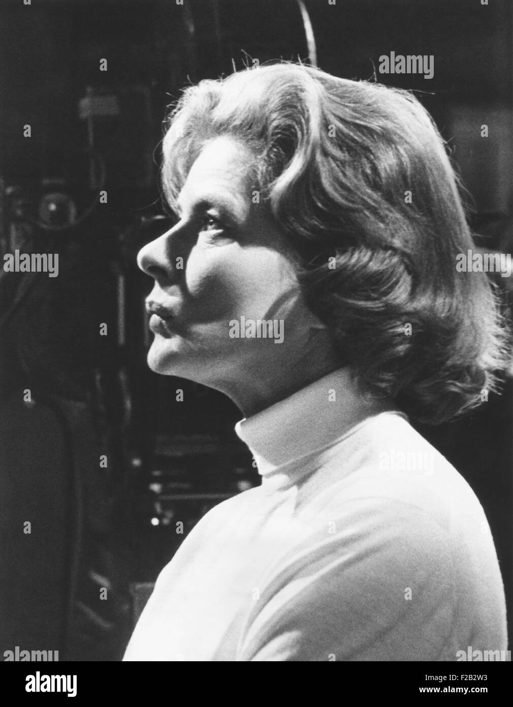 Ingrid Bergman on the set of CACTUS FLOWER, in April 1969. It was the first film she made in Hollywood since JOAN - Stock Image