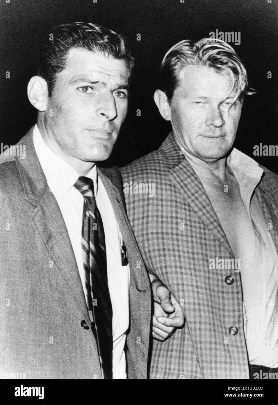 Arthur G. Barkley (right), an Arizona truck driver who hijacked TWA Flight 486 in FBI custody. On June 4, 1970, - Stock Image