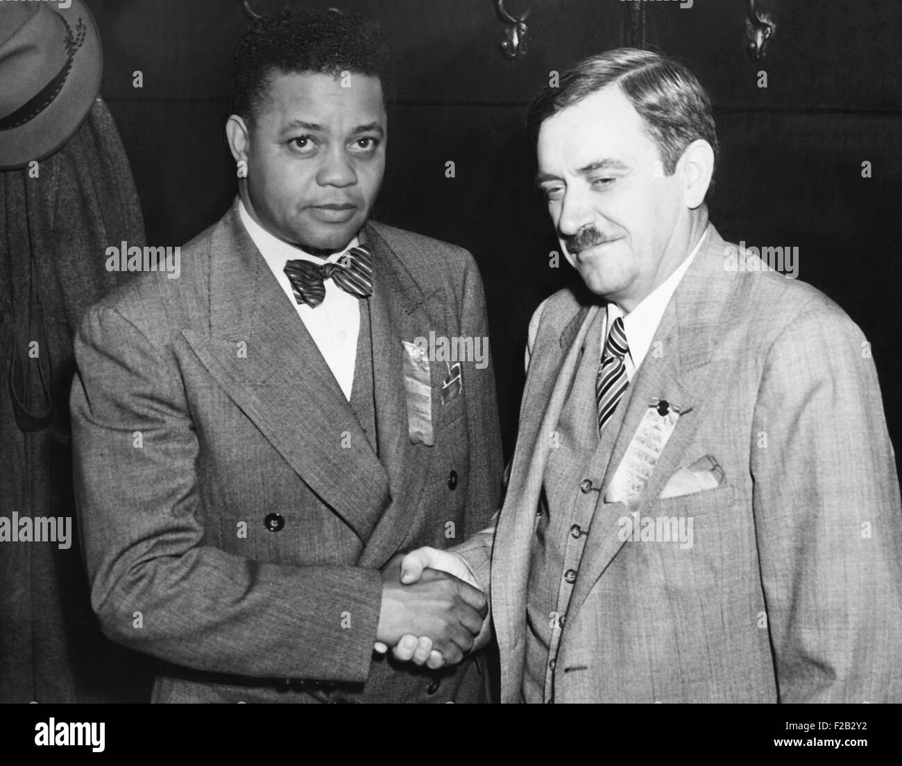 Communist Party of USA 1940 nominees, Earl Browder (right) and James W. Ford. They were nominated by the Communist - Stock Image