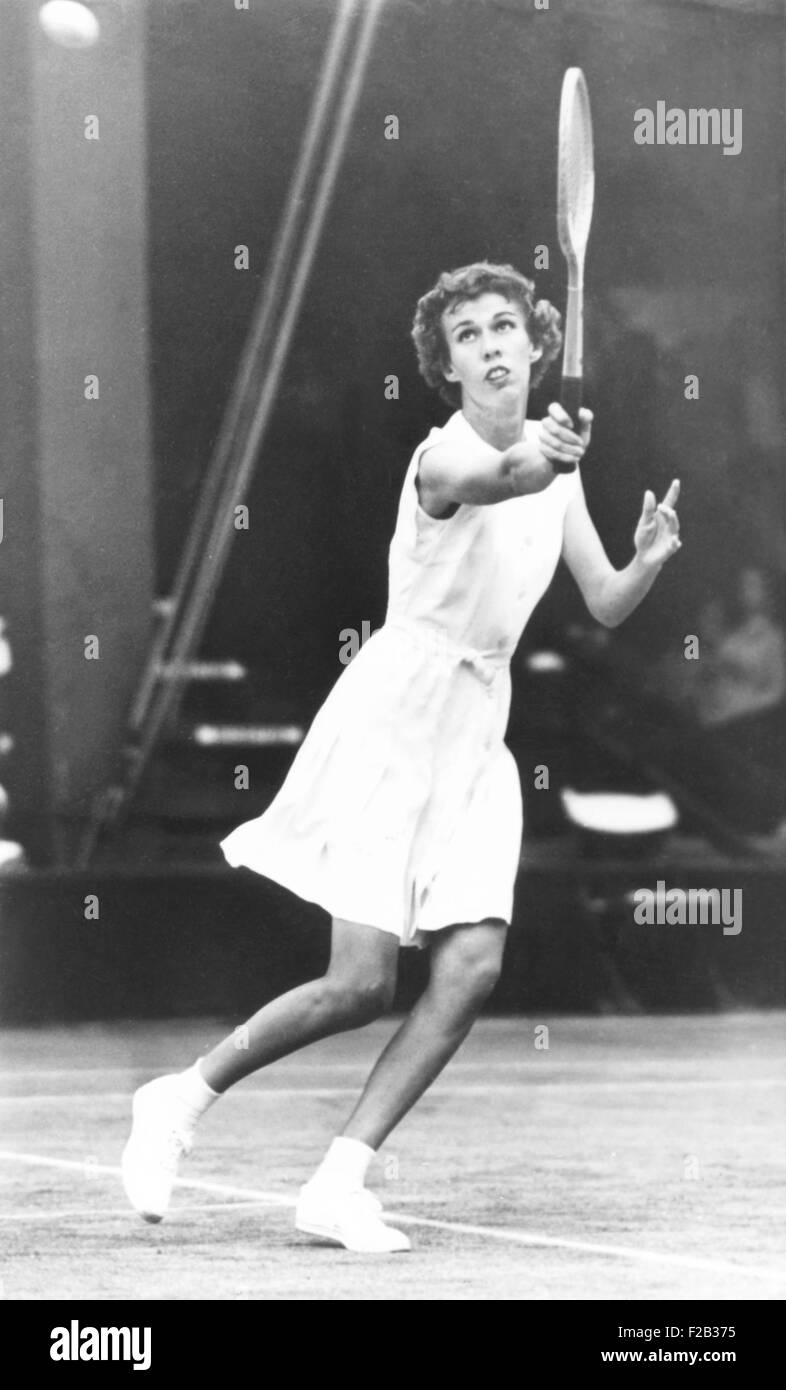 Doris Hart, American Tennis champion in competition. June 1950. (CSU_2015_7_285) - Stock Image