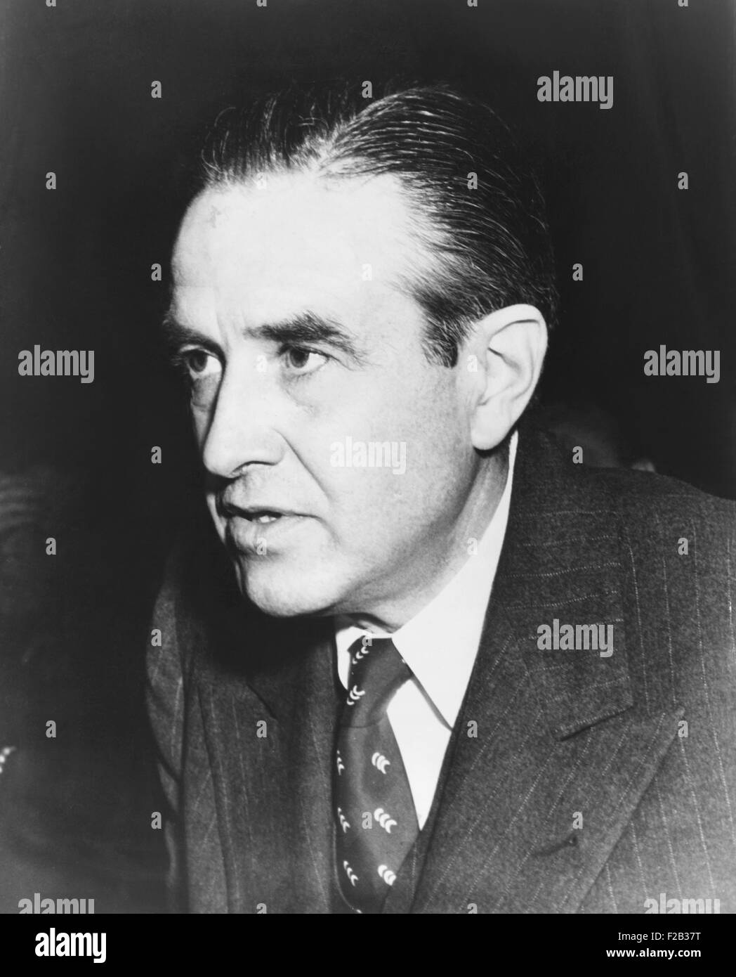 W. Averill Harriman in 1949. During the 1940s he was an essential diplomat serving as Ambassador to Russia and Britain, - Stock Image
