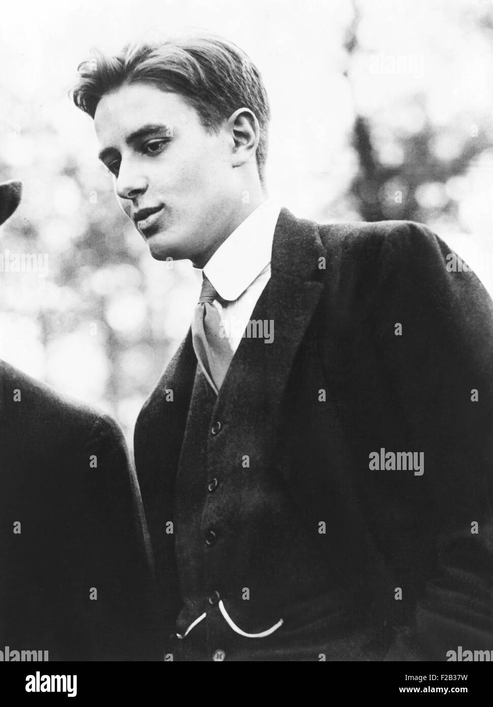 William Averill Harriman in 1913 at age 21. He was one of two sons of railroad magnate, Edward Henry Harriman, who - Stock Image