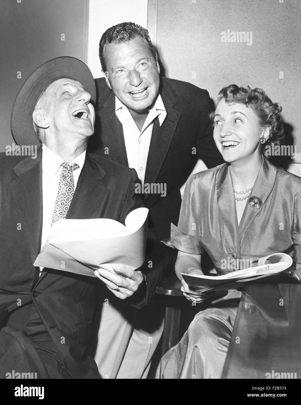 Jimmy Durante, Phil Harris, and Margaret Truman were featured on NBC-TV's 'All-Star Revue' Saturday, Sept. - Stock Image