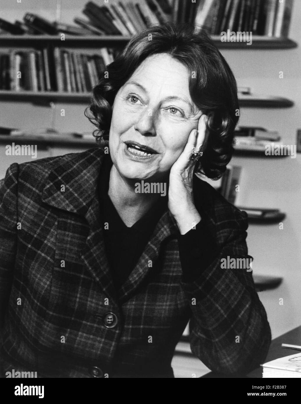 Elizabeth Hardwick, influential American literary critic, novelist, and short story writer in 1967. In 1962 she - Stock Image