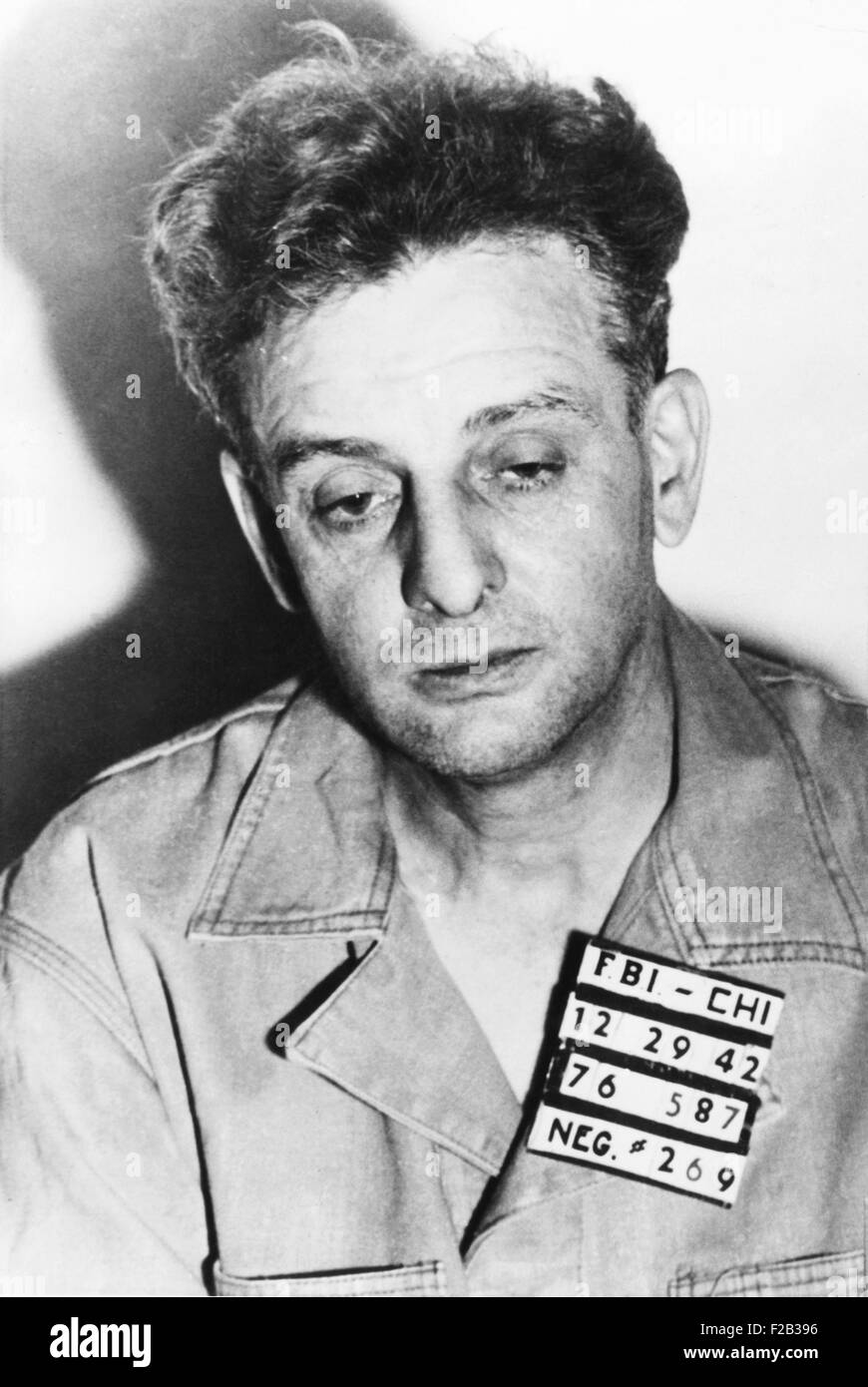 Roger 'Terrible' Touly, surrendered to FBI shortly after G-men killed two members of the gang. He was arrested with - Stock Image