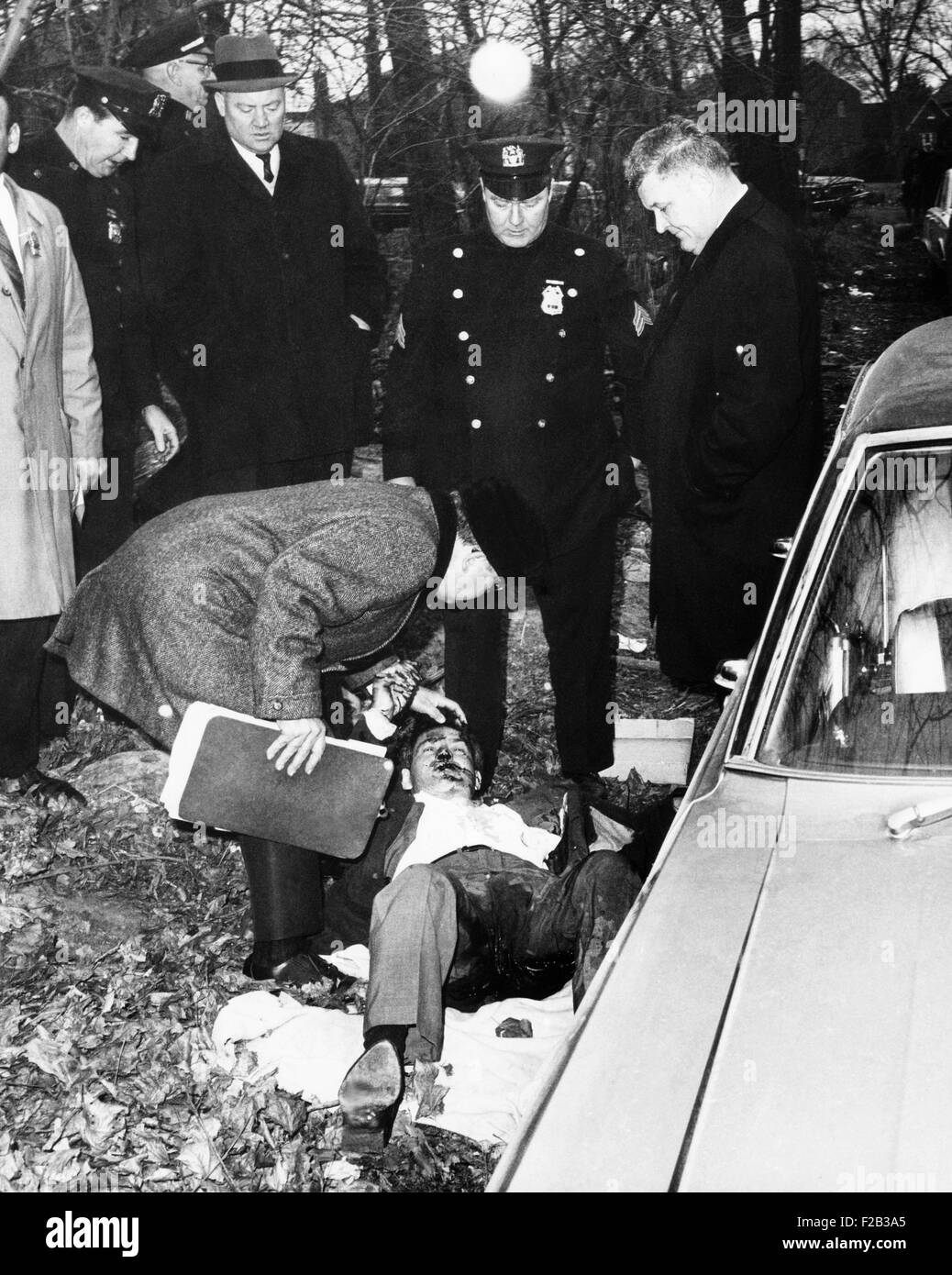 Vincent Barile was found slumped in front seat of a parked car in the Bronx, NYC, Jan. 21, 1966. He was a known - Stock Image
