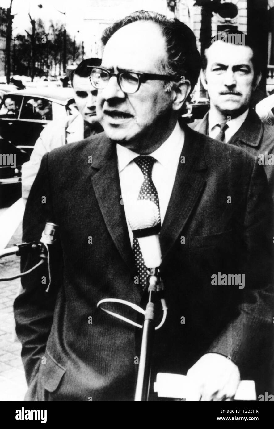Philip Habib, American career diplomat, May 4, 1970. He was head of the U.S. delegation to the Paris Peace Talks - Stock Image