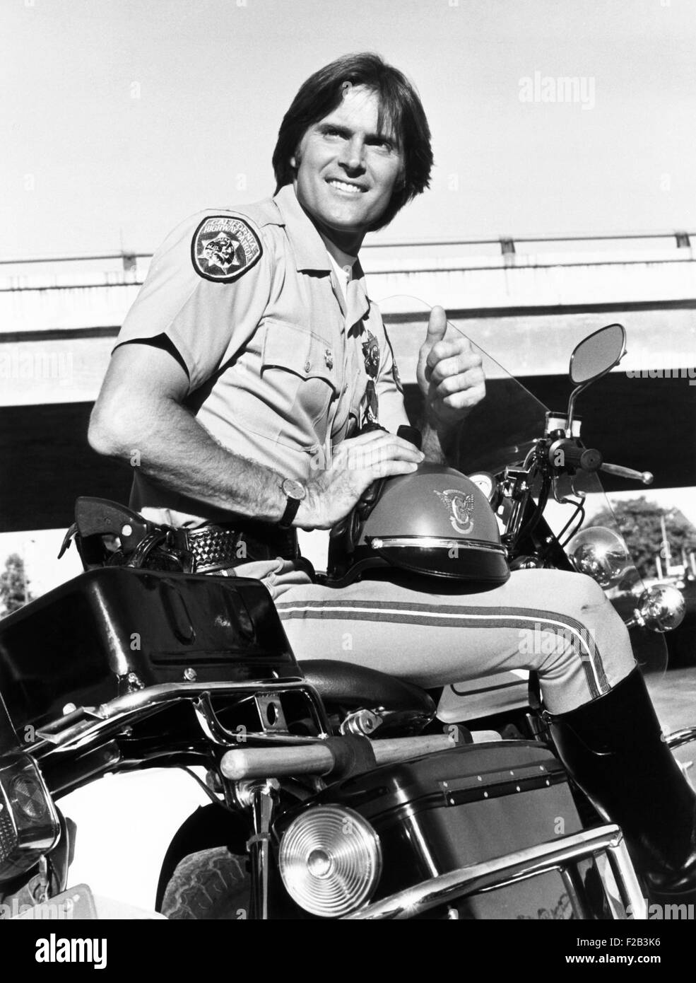 Bruce Jenner stared as officer Steve McLeish. He appeared as the principle performer in NBC-TV series 'CHiPs' - Stock Image
