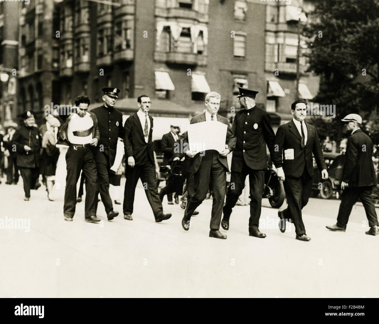 Socialists arrested in Boston, Mass. Harry Canter of N.Y. (left) and Alfred Baker Lewis of Boston, both Socialists, - Stock Image