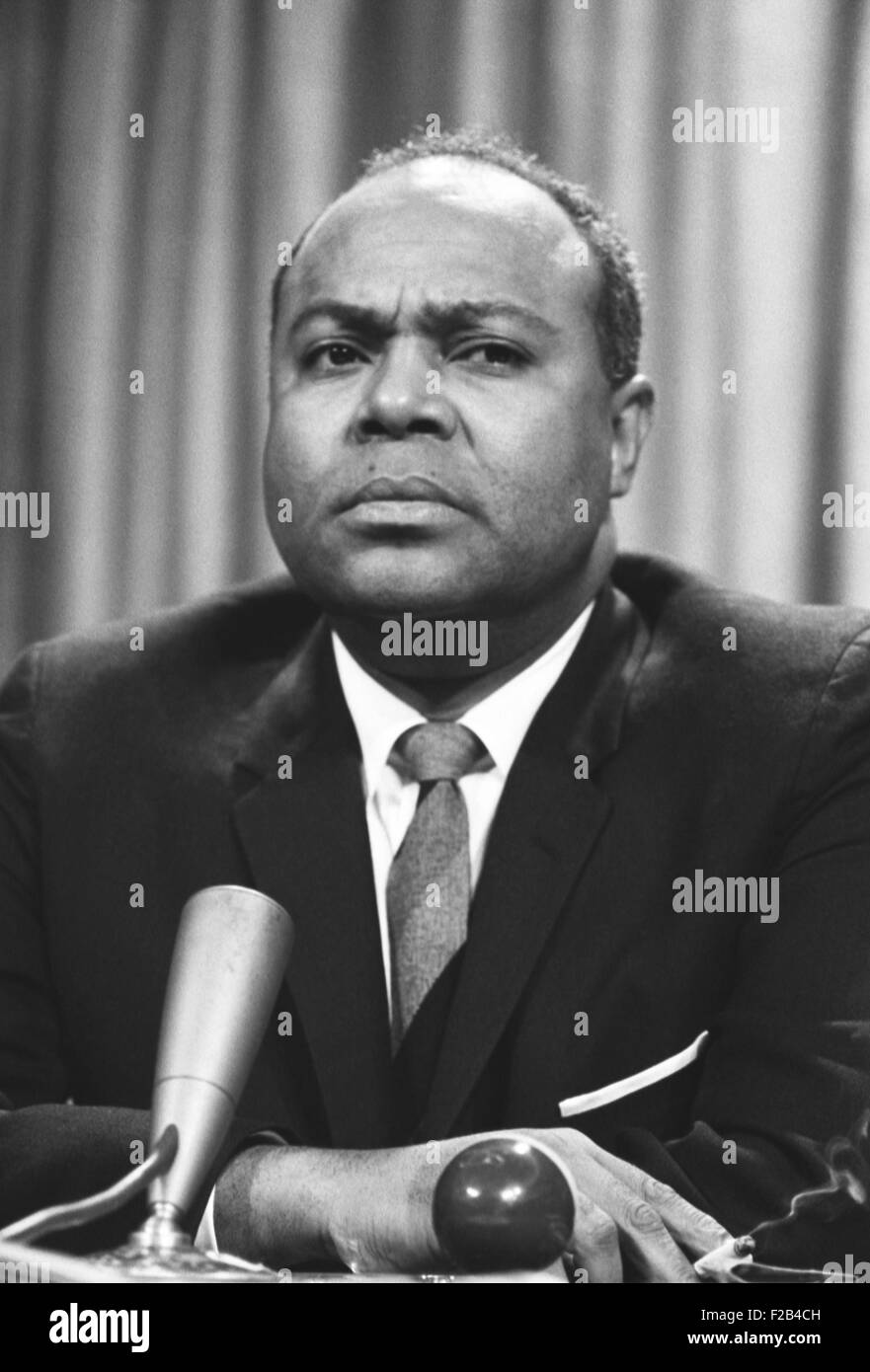 As the director of CORE, Farmer was one of the 'Big Six' leaders of the Civil Rights Movement. April 15, - Stock Image