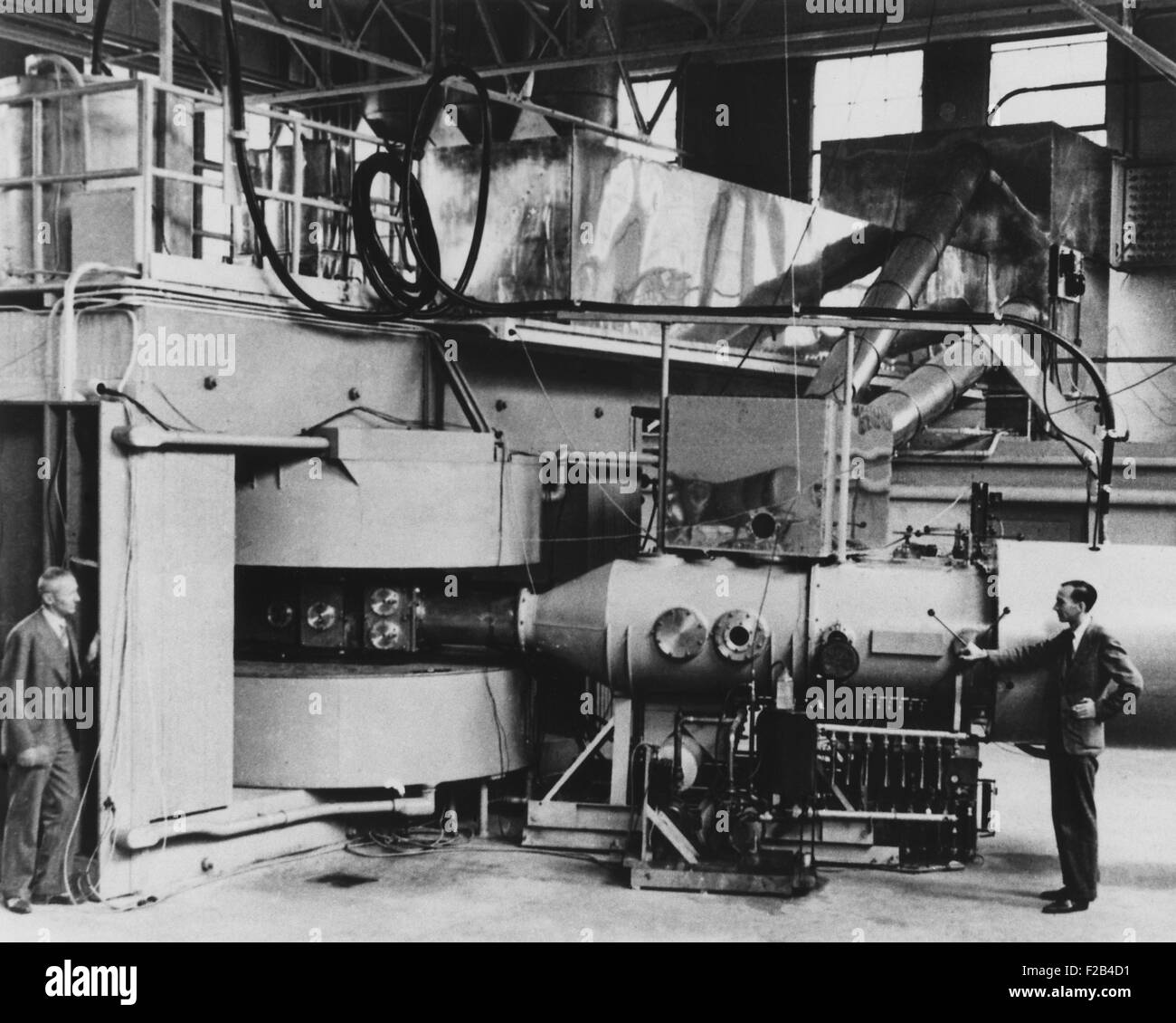 60-inch cyclotron at the University of California, Berkeley. June 8, 1940. The atom-smasher was the most powerful - Stock Image