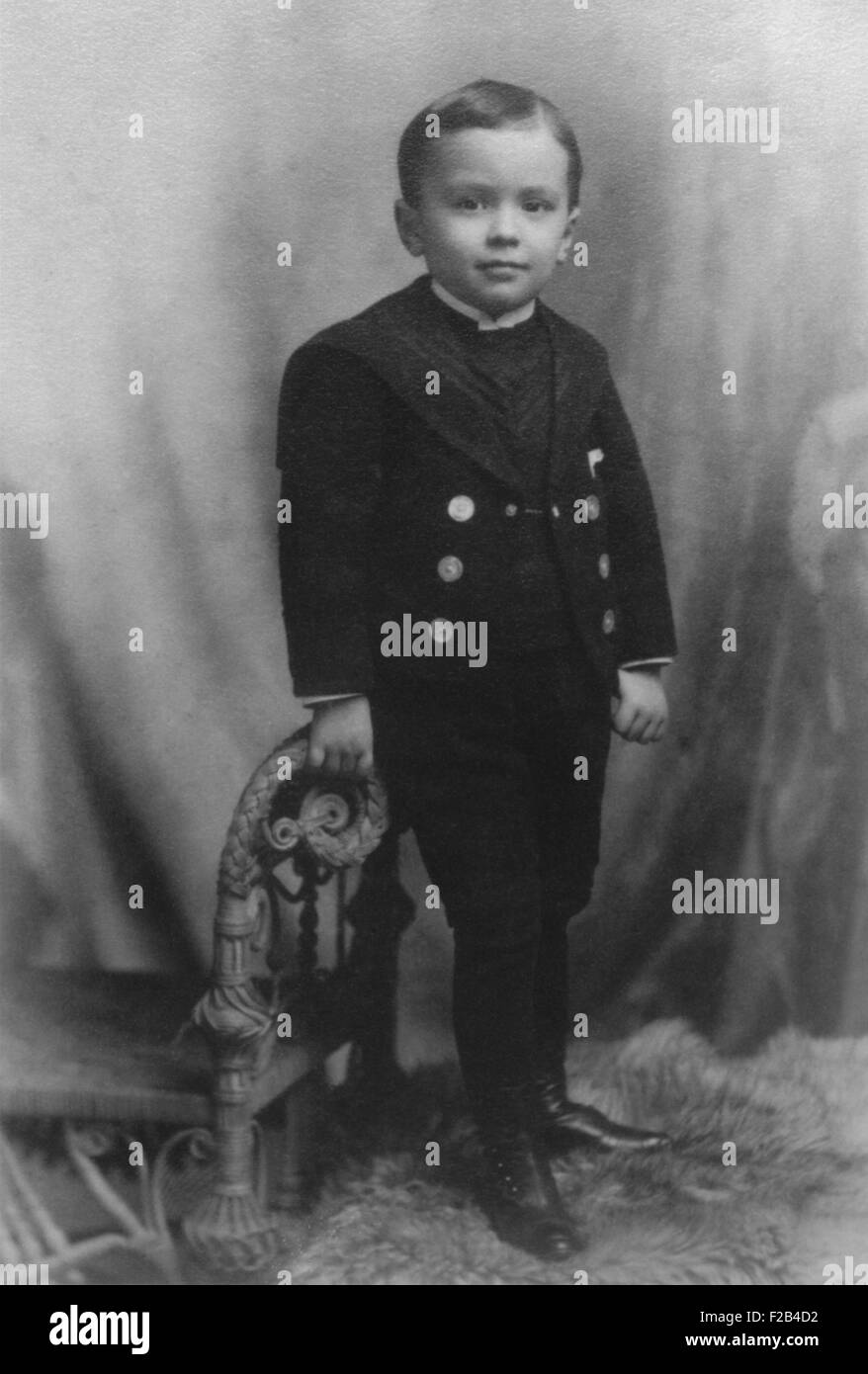 J. Edgar Hoover at age 4, in 1899. The future FBI director was born in 1895 in Washington, D.C. - (BSLOC_2015_1 - Stock Image