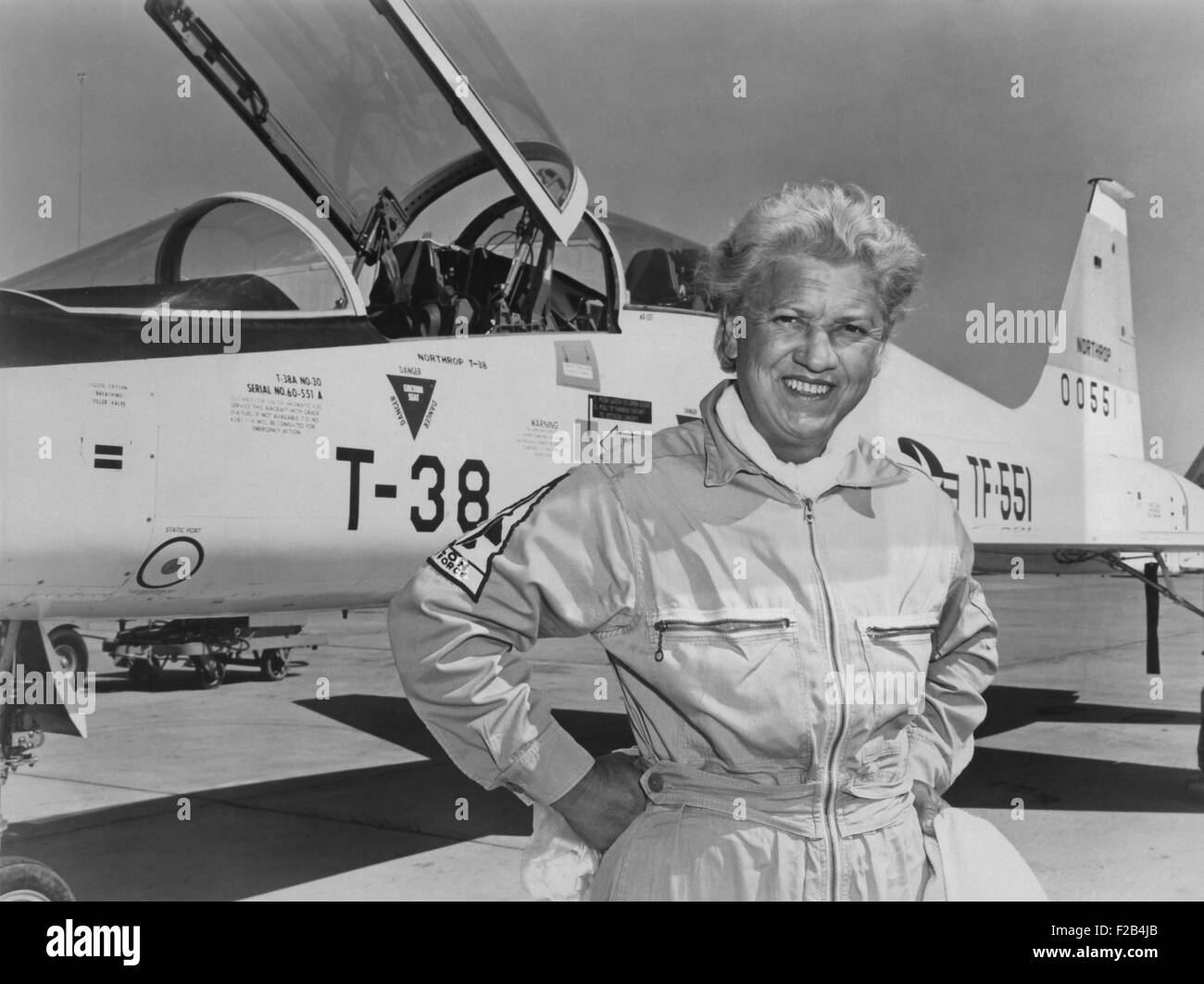 Jacqueline Cochran was the first woman pilot to break the