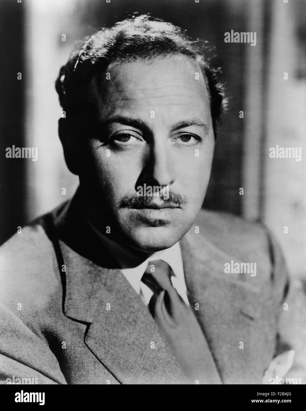 Tennessee Williams, playwright of 20th century American classics in 1952. His works include: The Glass Menagerie; - Stock Image