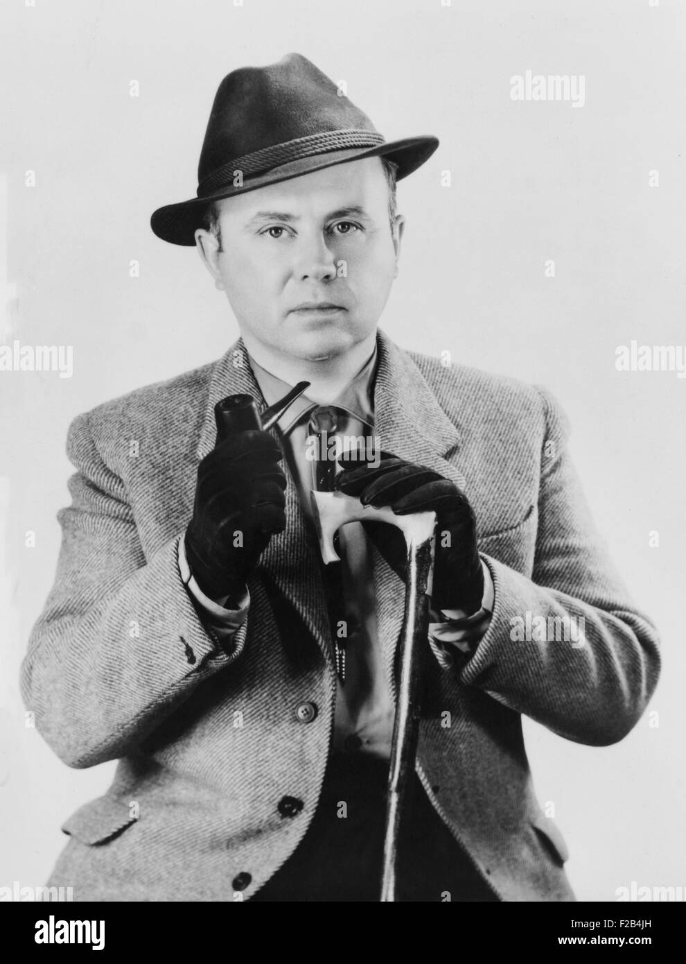 Russell Kirk, American political theorist. His influential 1953 book, 'The Conservative Mind', traced the - Stock Image